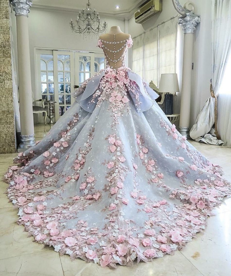 99b6759ace343 Wedding dress flowers cherry flowers cherry blossoms | Elie Saab ...