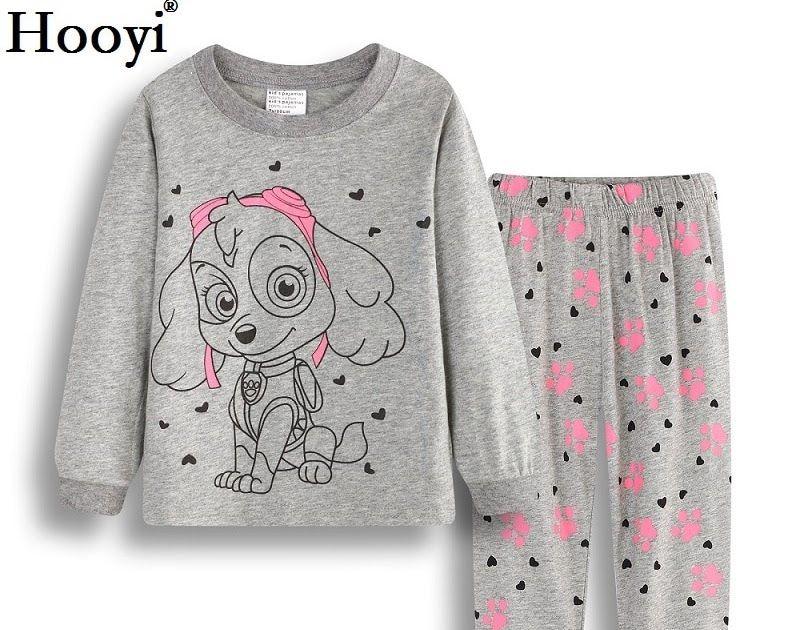 Big SALE Hooyi Dog Baby Girls Pajamas Suits 2 3 4 5 6 7 years Children 402532b17