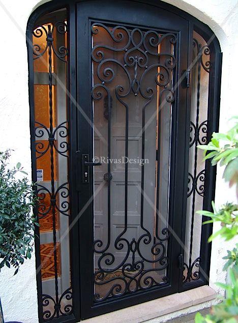 Rod iron security door outdoors pinterest security door iron and doors - Iron security doors home depot ...