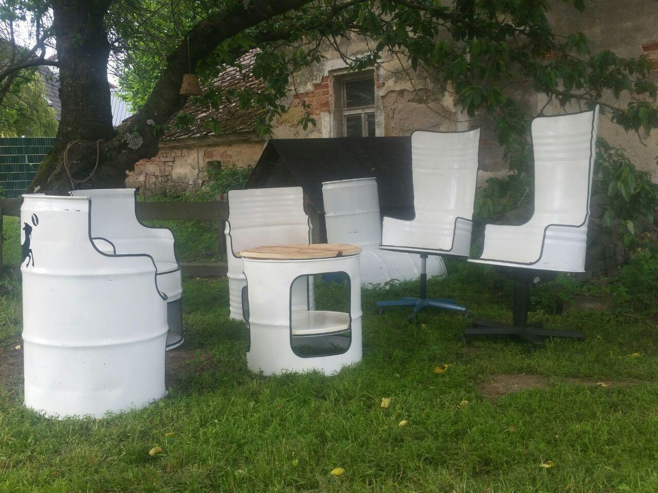 Mobel Im Fassdesign Stuhl Auf Wunsch Auch Tisch Waschbecken Ebay Fass Mobel Stuhle Waschbecken