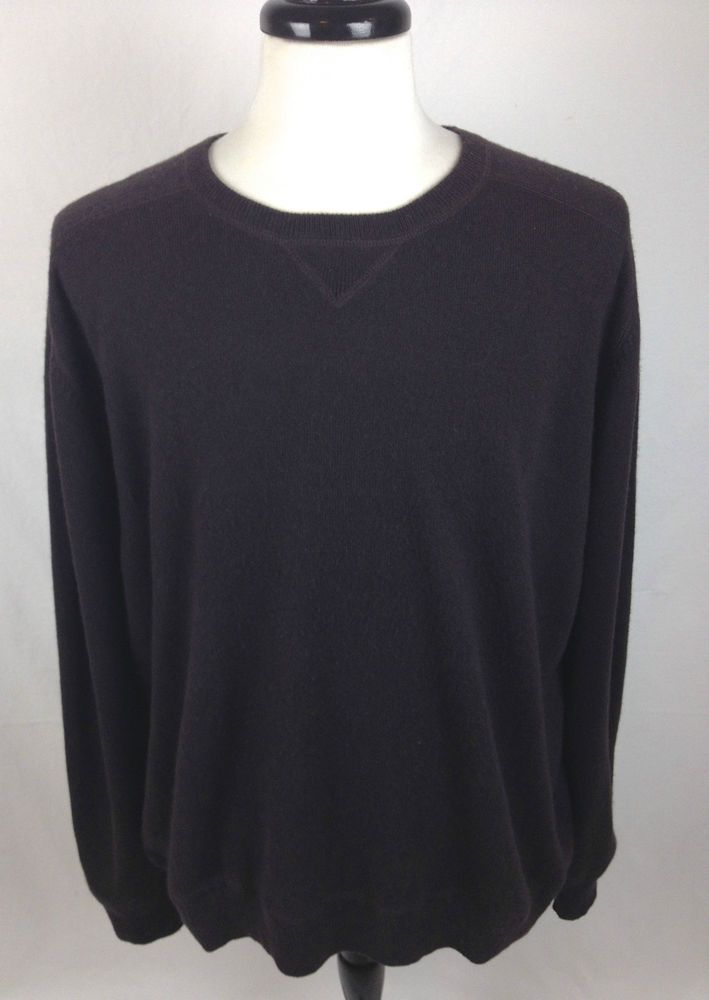 Mens Kirkland Cashmere Sweater XXL Brown Long Sleeve | Cashmere ...