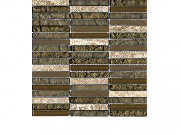 Tecno Linear Brown Capuccino 1,5x9,7, Mosaicos de la colección Tecno