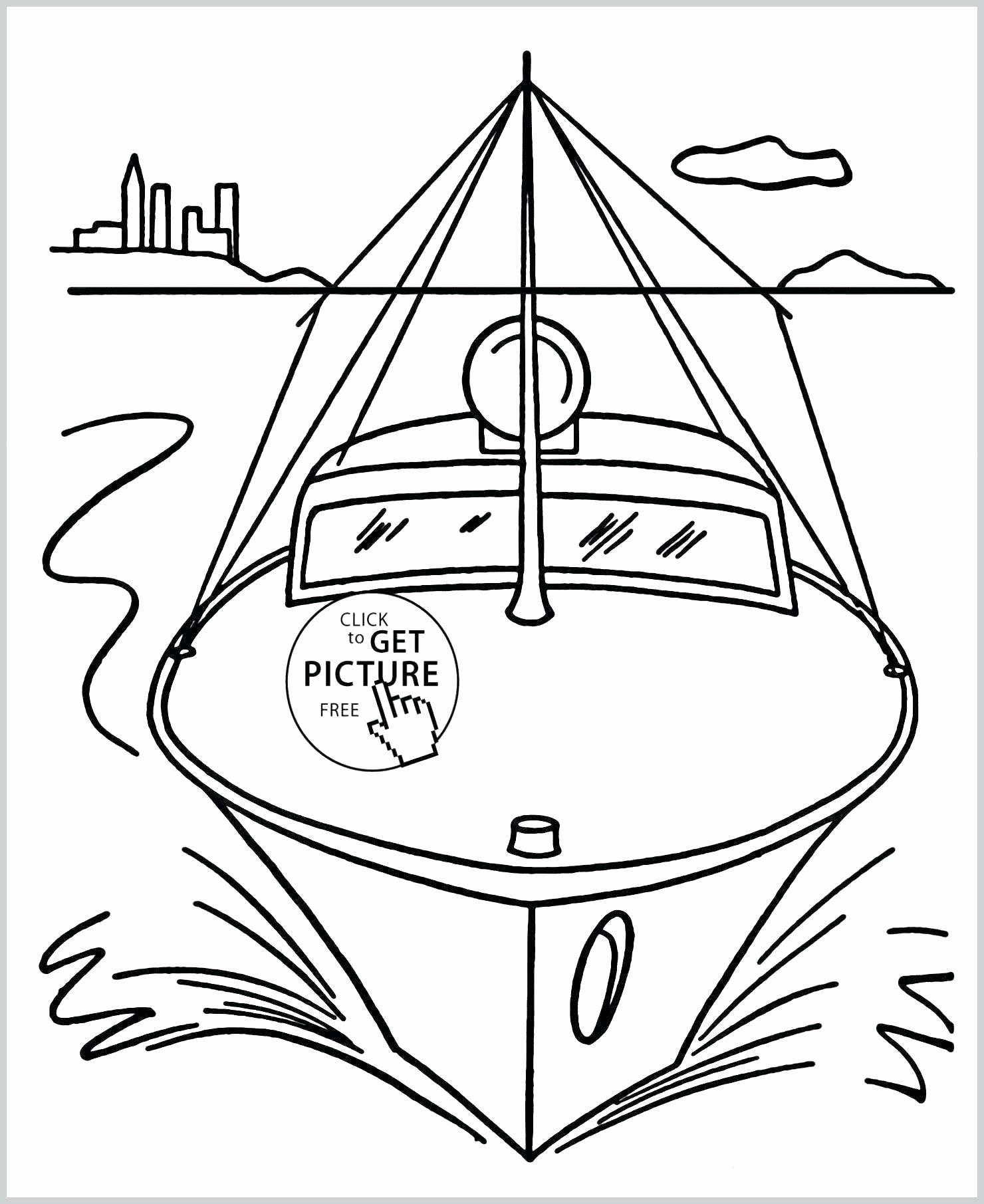 Sail Boat Coloring Sheet