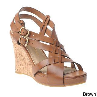 bedb4b469e4 Chinese Laundry Women s Criss-Cross Cork Wedge Sandals