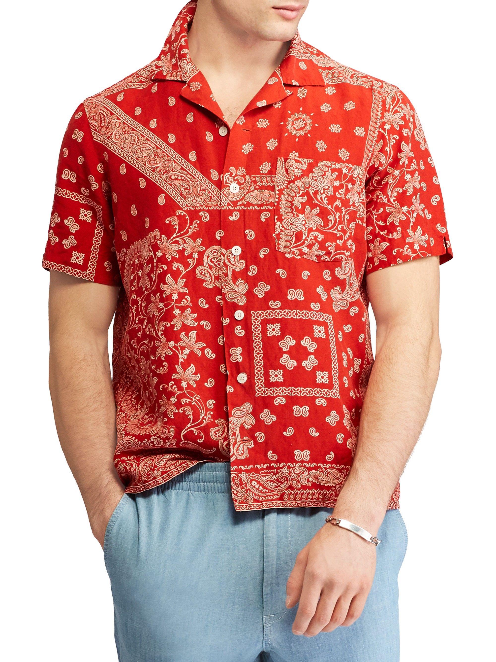 3e100fadc Bandana Sport Shirt by Ralph Lauren   Products   Shirts, Bandana ...