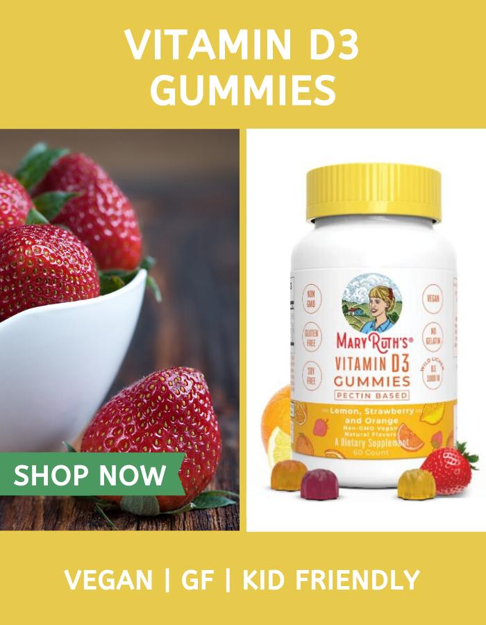 D3 Gummies (60 Count) in 2020 Vegan vitamins, Gluten
