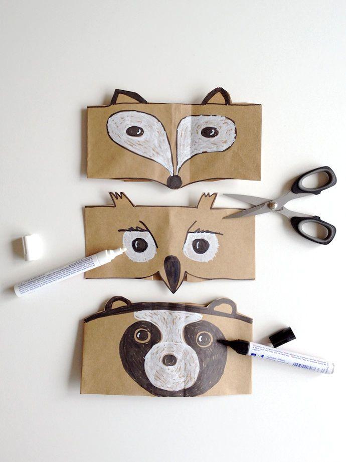 Diy Leaf Crowns And Animal Masks Animal Masks For Kids Fun