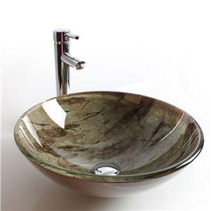 EU Lager)Design Glas Waschbecken Rund | Glas Waschbecken ... | {Waschbecken rund glas 60}