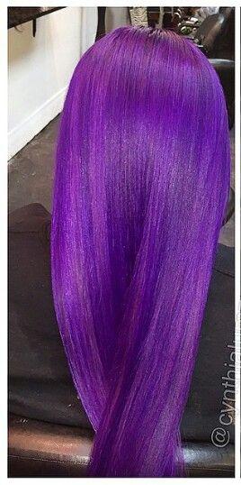 midnight purple hair color braids