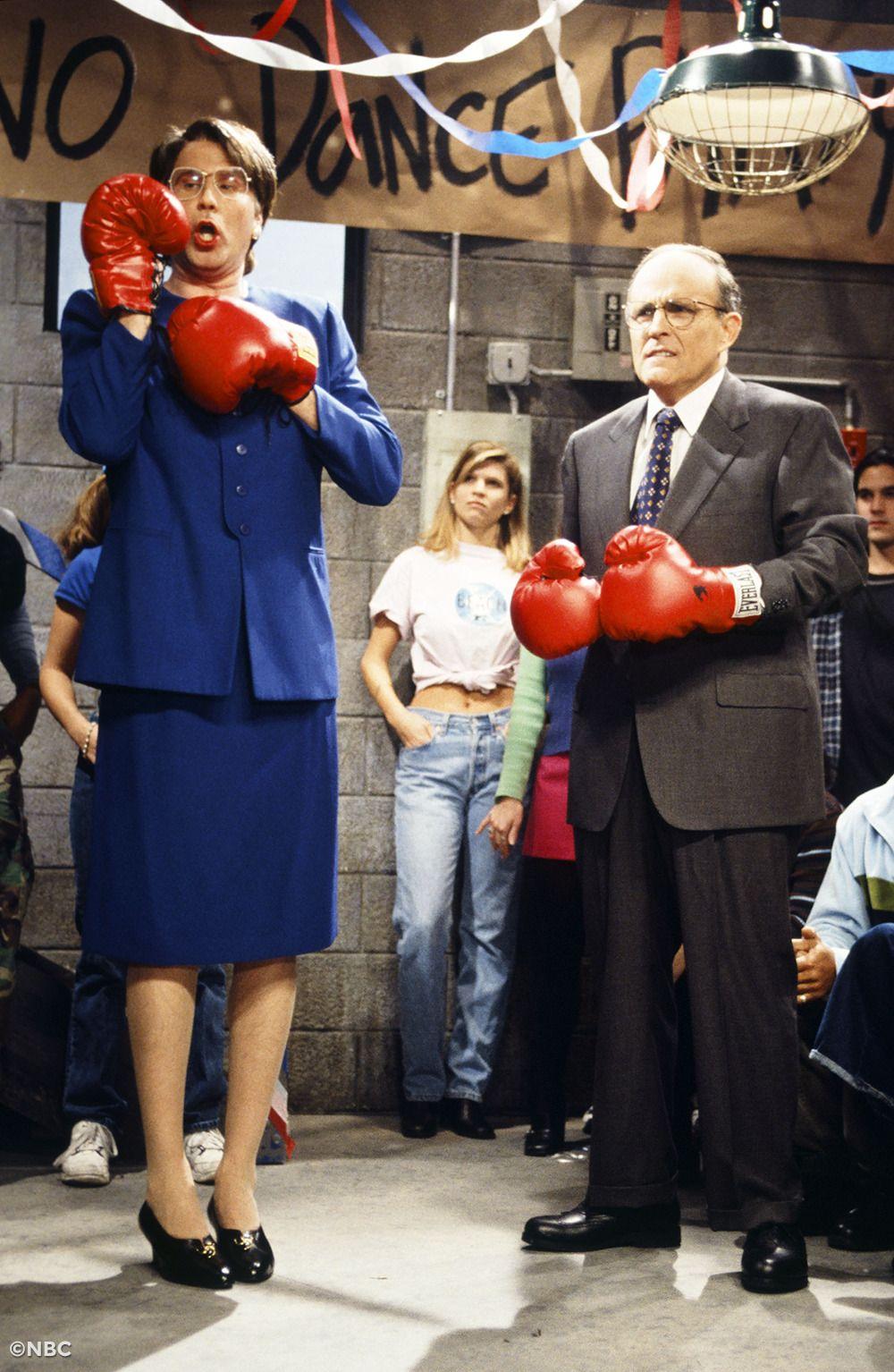 Thisdayinsnlhistory Snl Saturday Night Live Janet Reno Rudy Giuliani