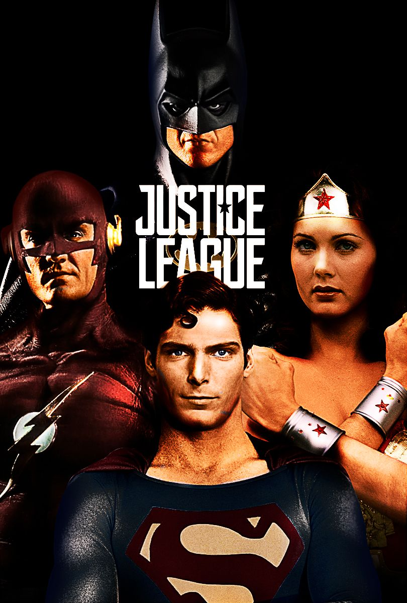 Justice League 2017 Superman With Christopher Reeves Batman With Michael Keaton Wonder Woma Justice League Justice League Flash Justice League 2017 Superman