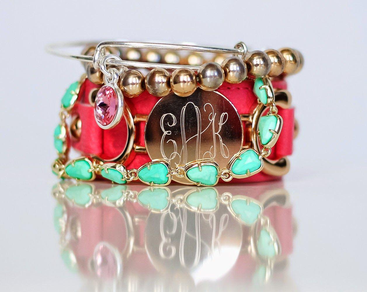 #monogram #bracelets #stack #armparty #armcandy