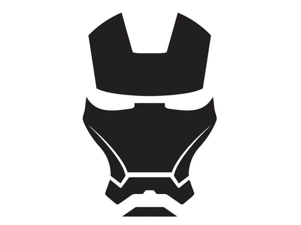 Iron man face mask 1 vinyl decal via etsy