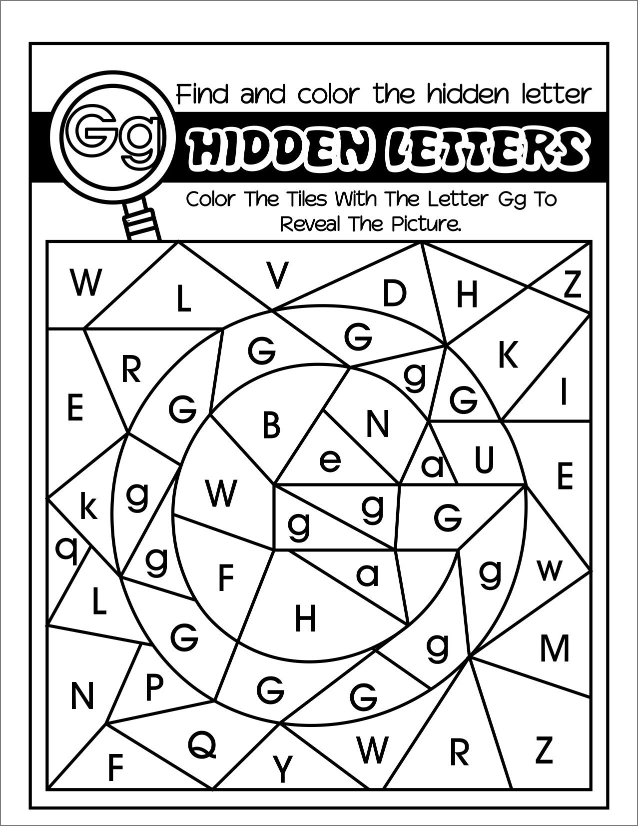 Hidden Lettersfun Coloring Alphabet Worksheets For