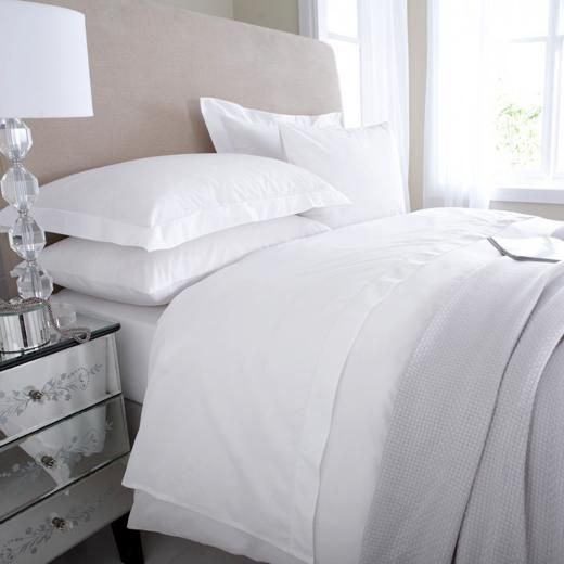 Egyptian Cotton Flat Sheet King Size Bed Linen White The Wool Room 30 Get 2