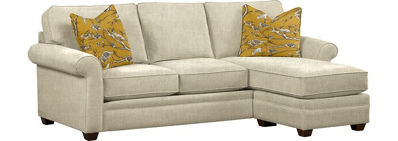 Living Room Furniture, Kara Chaise Sectional, Living Room ...