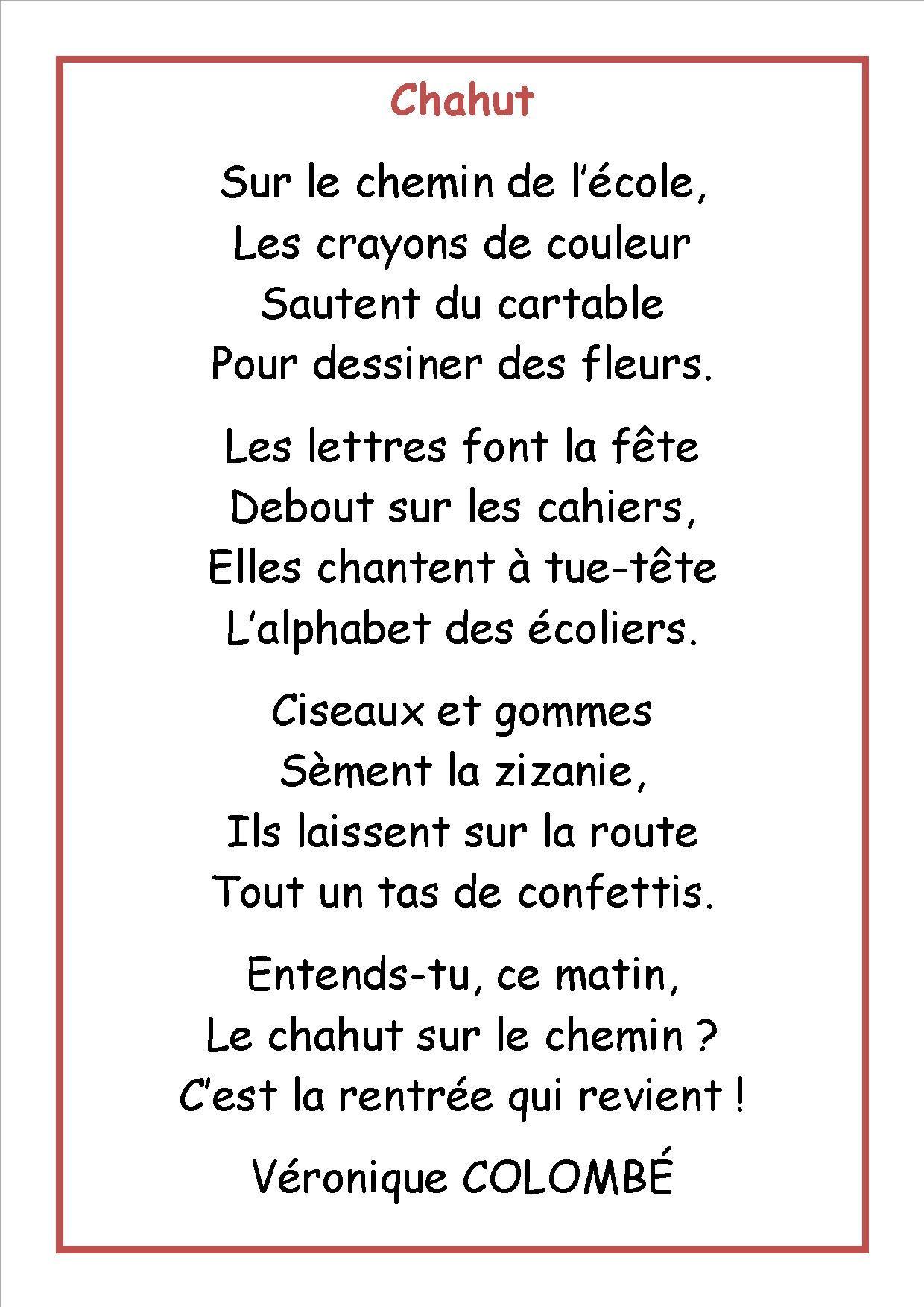 Resultat De Recherche D Images Pour Poesie Chahut Poesie Rentree Poesie Ce2 Ce2