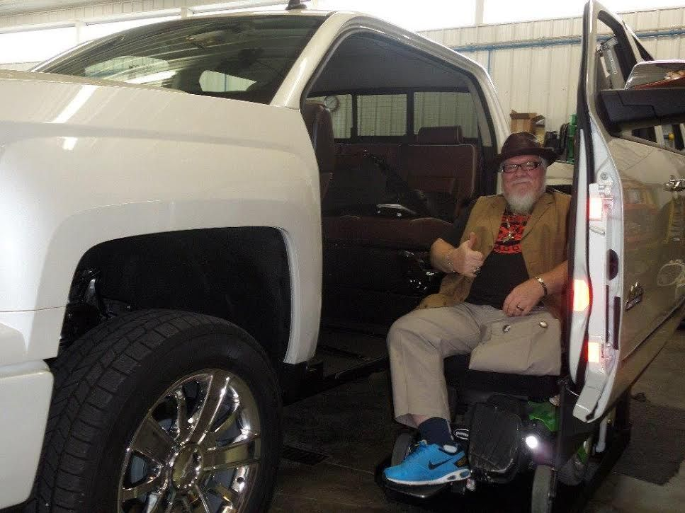 Thanks to Mobility SVM, Christopher was able to purchase his new, #accessible truck at our #Columbus location! Join #MCMobility Oct.17 at our #Cincinnati location during our #HarvestSaleEvent for the opportunity to speak with one their representatives! http://bit.ly/1q4WyOj