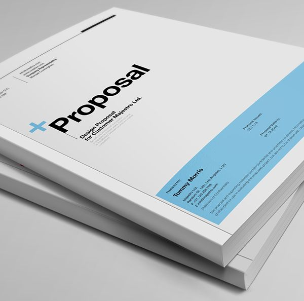 Proposal Template Suisse Design With Invoice On Behance  Clean