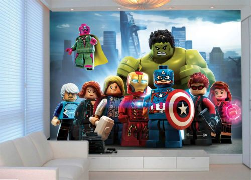 Best Wall Mural Lego Avengers Superheroes Photo Wallpaper 400 x 300