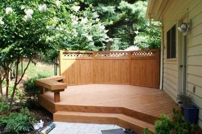 Deck Privacy Fence | TimberTech Earthwood Deck With Privacy Fence    Composite And Vinyl .