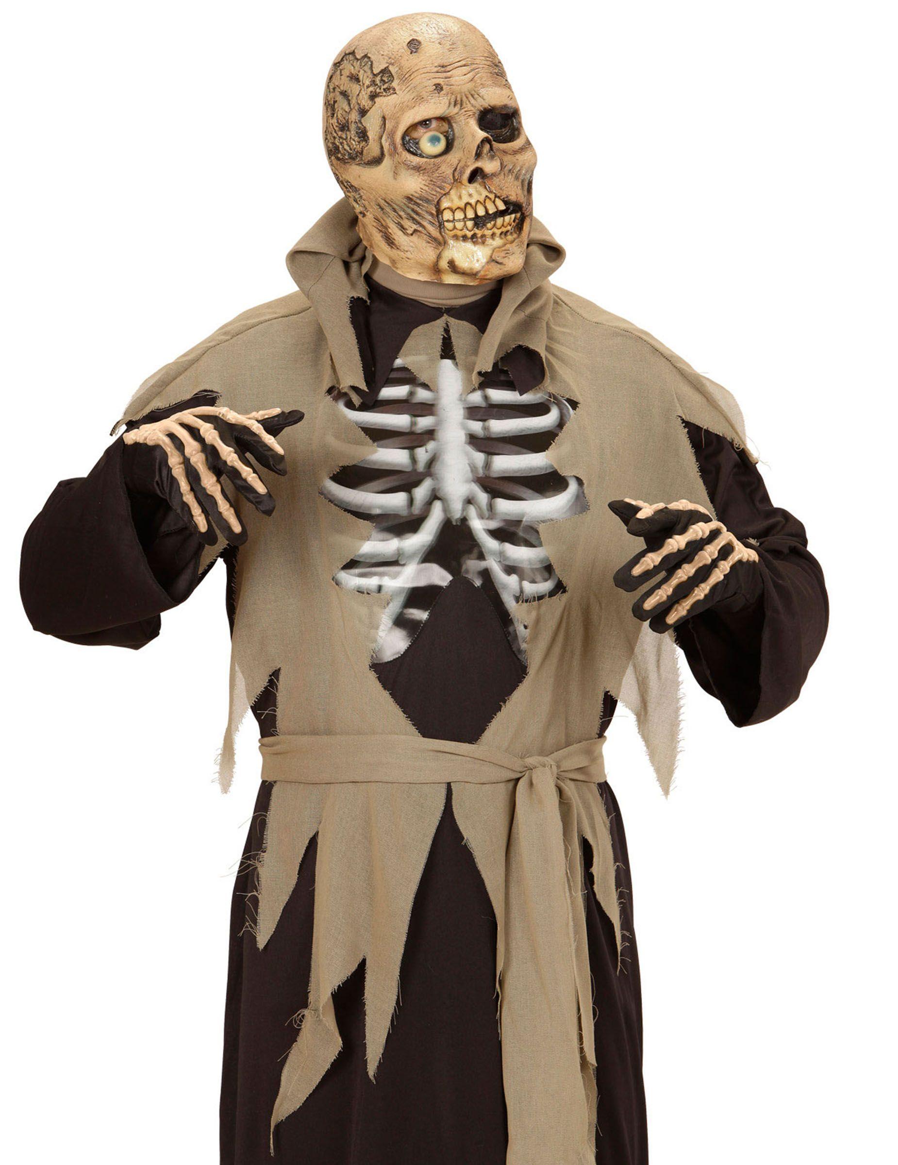Halloween Maschere.Maschera Adulto Zombie Con Un Occhio Solo Halloween Body Art