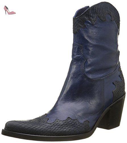 Donna Piu 9588 Brigida, Bottes Classiques Femmes, Argent (Sauron Antracite/Tequila Nero), 36 EU