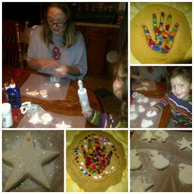 The Homeschool Hive: Stained Glass Christmas Crafts From Salt Dough