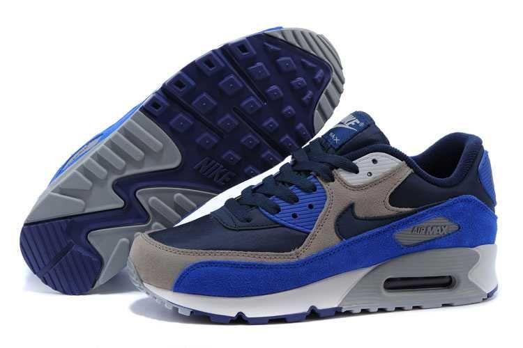 100% authentic 98912 24be5 1767   Nike Air Max 90 Herr Deep Royal Navy Blå Grå Khaki SE015617zGXPbAbC