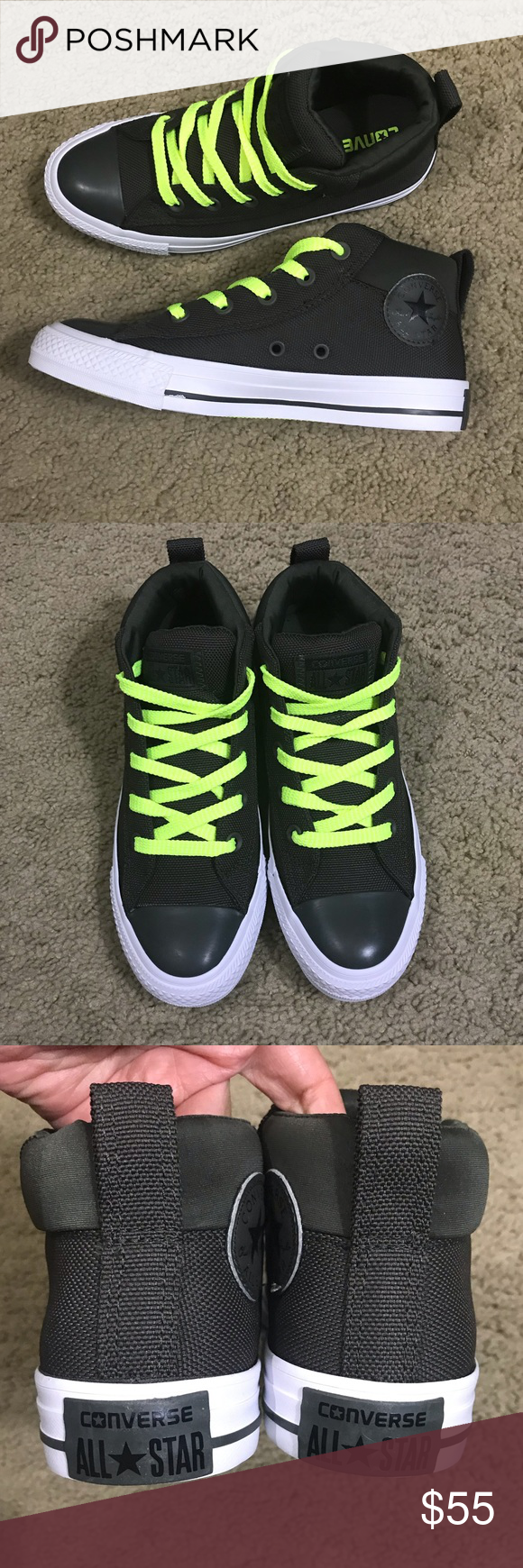 43c00676e881 Kid s Converse Street Mid High Sneakers Kid s Converse Street Mid High Sneakers  Chuck Taylor All Star