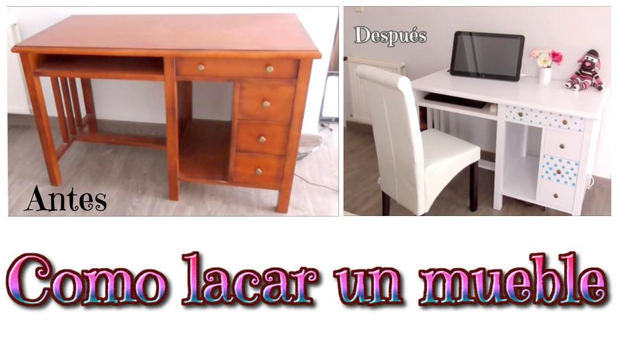 C mo lacar muebles de madera p sate al blanco de todo for Lacar mueble ikea