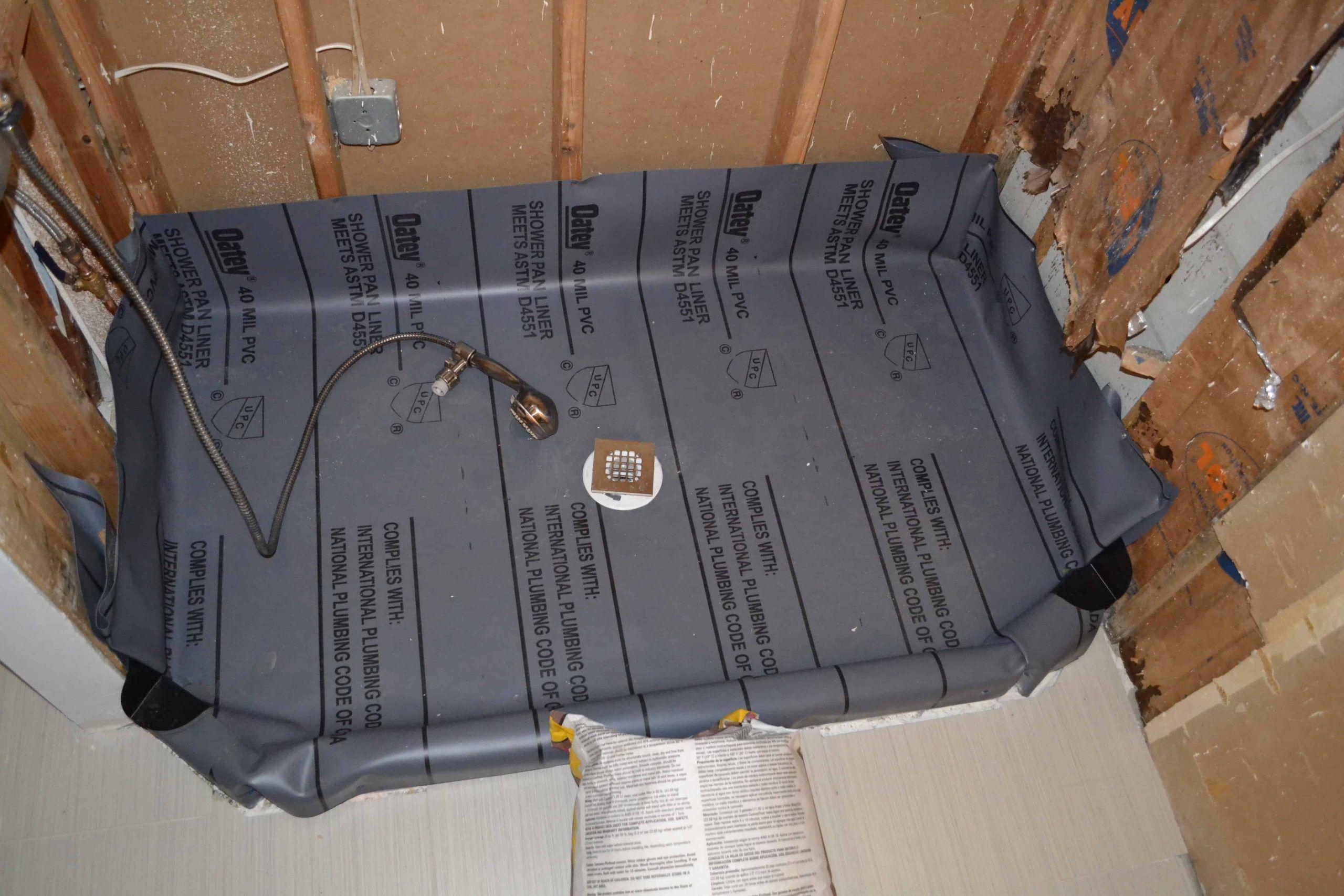 How To Install A Fiberglass Base Over Concrete Shower