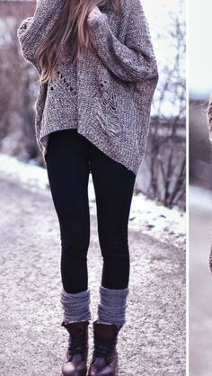 Black leggings are a must have for fall and winter!