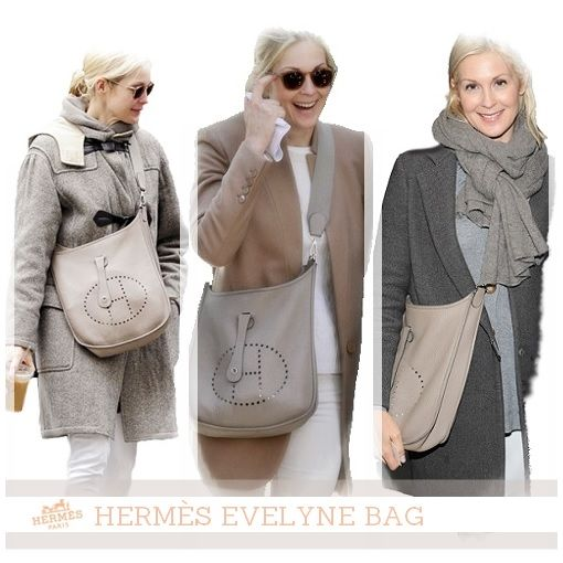 c33854b16ae Hermès Evelyne Bag. Kelly Rutherford.