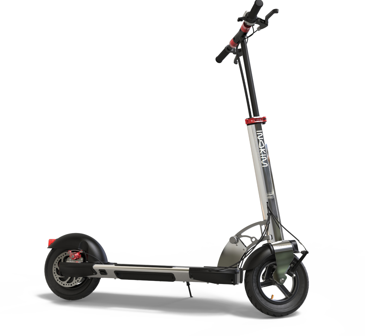 The limited edition INOKIM Quick 3 chrome electric scooter