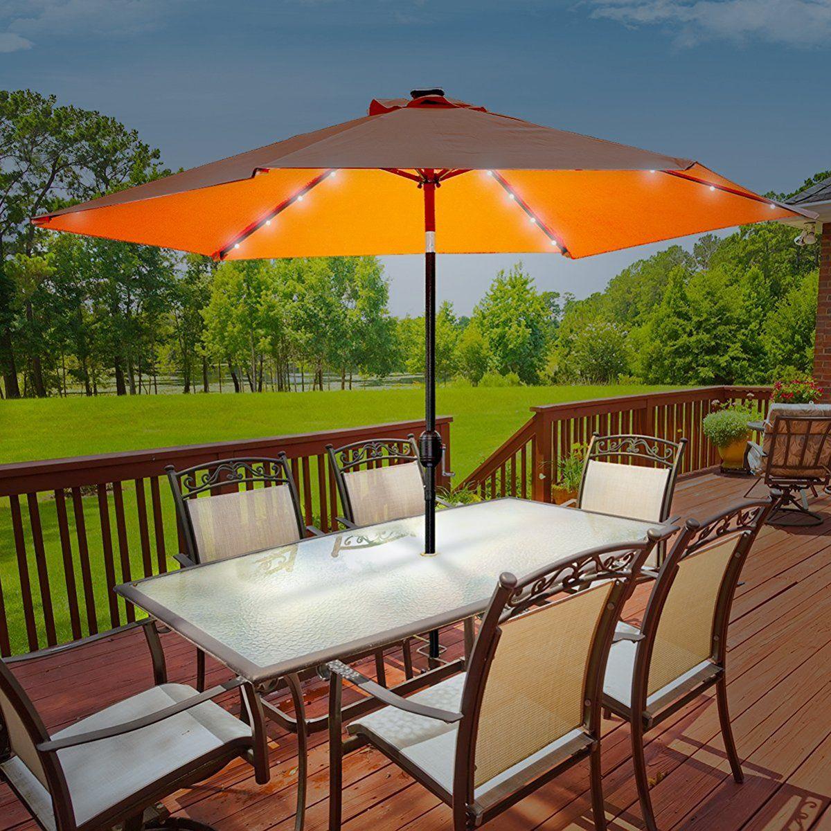 Pin On Solar Patio Umbrella