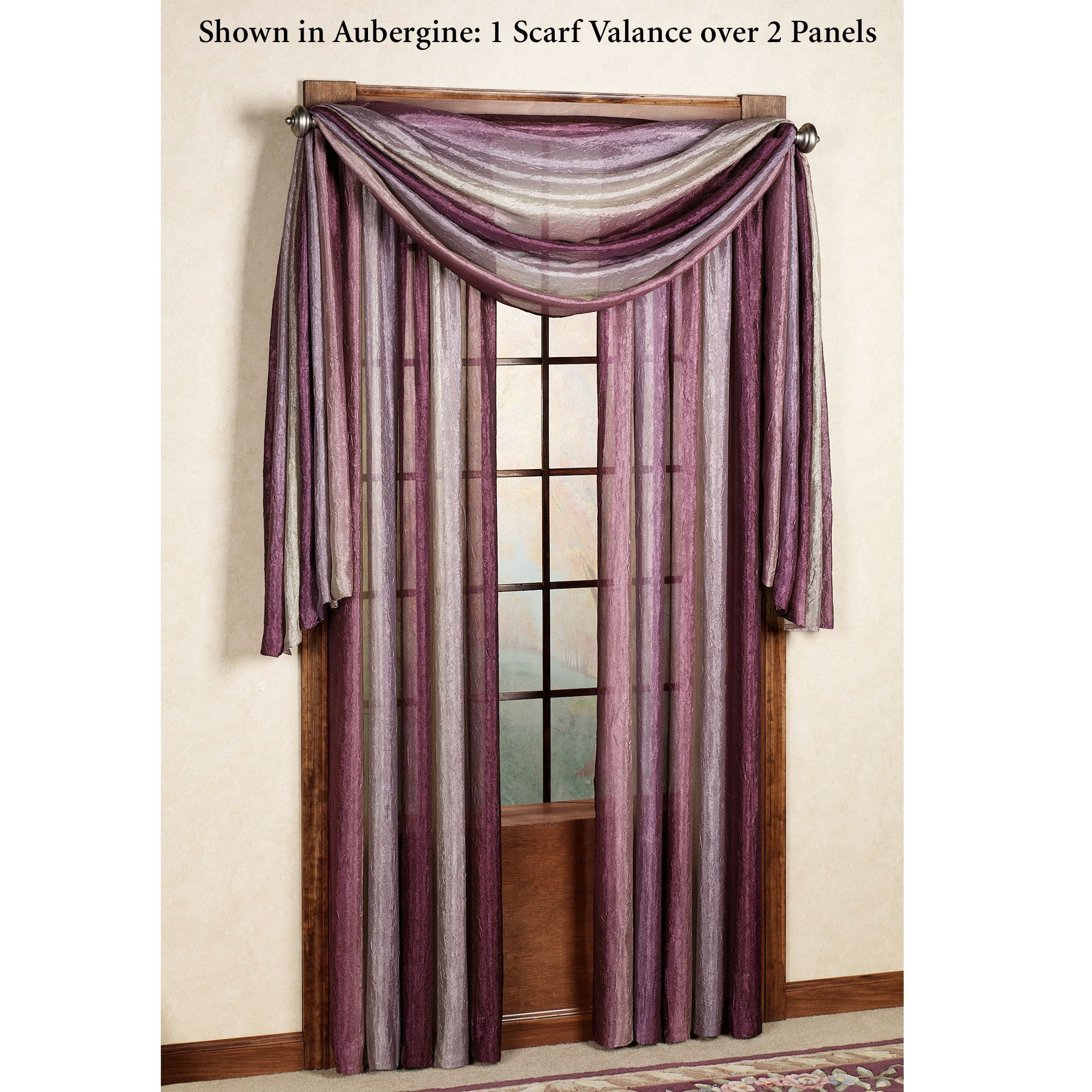 Using A Window Scarf Home Ombre Semi Sheer Valance And Treatments