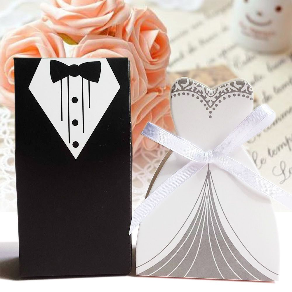 100x Wedding Favor Box Bomboniera Candy Box Leaf Gift Boxes Bridal Shower Decor
