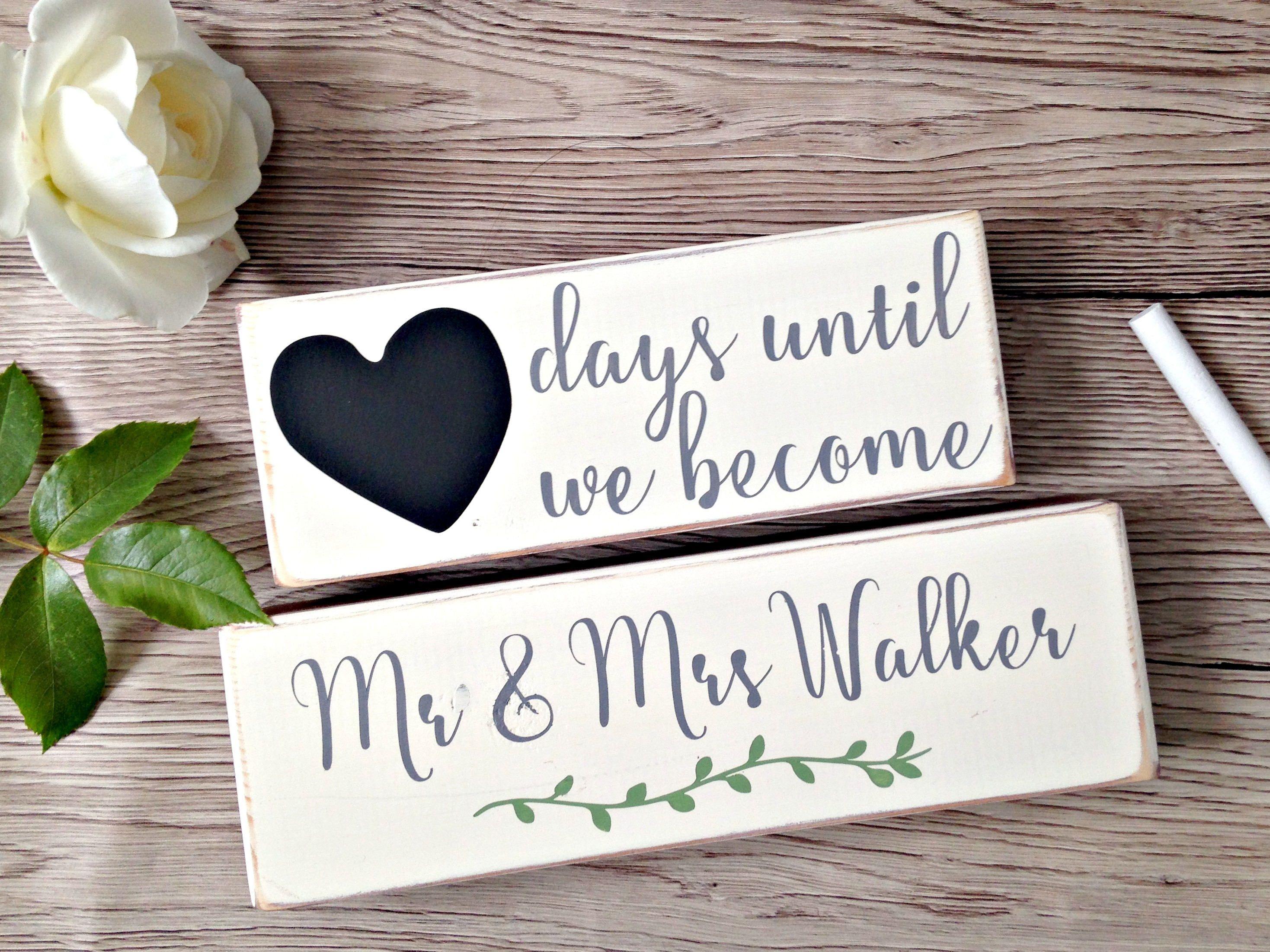 Personalised Wedding Countdown Blocks Engagement Gift Wedding Wooden Blocks Countdown Gift Gift For Countdown Gifts Countdown Blocks Wedding Countdown