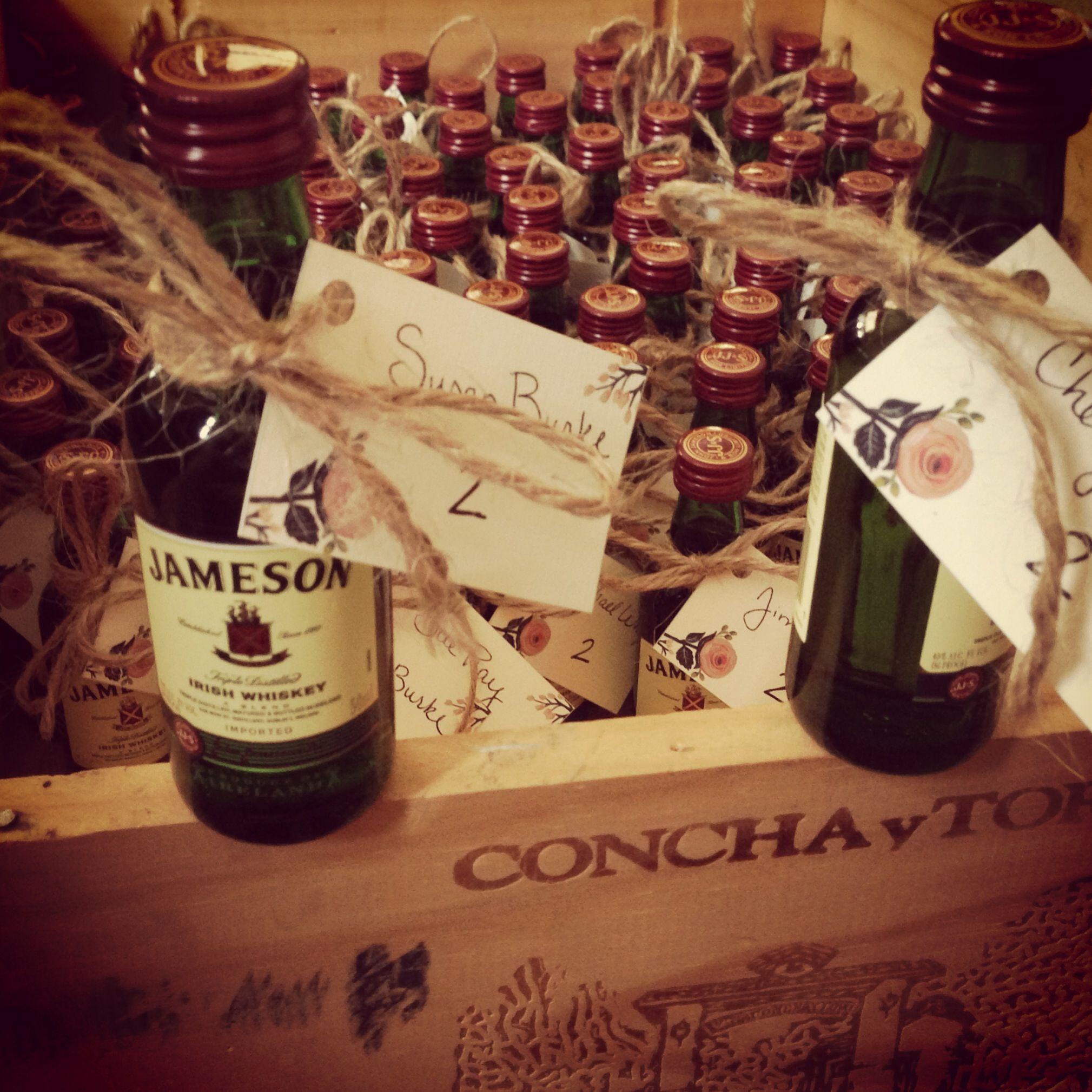 Awesome Irish Jameson Whiskey Wedding Favors