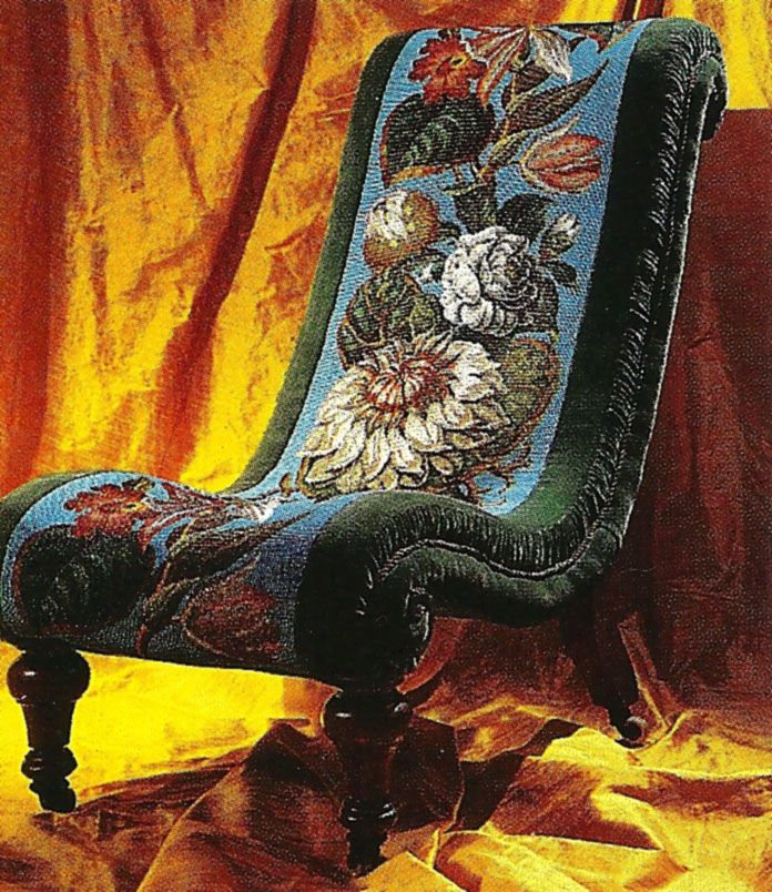 Victorian needlepoint chair | Victorian, Vintage and ...