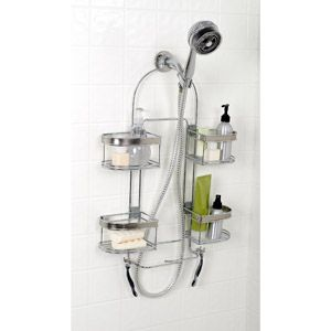 Zenith Products Expanding Shower Caddy Chrome Shower Caddy Shower Heads Bathroom Baskets