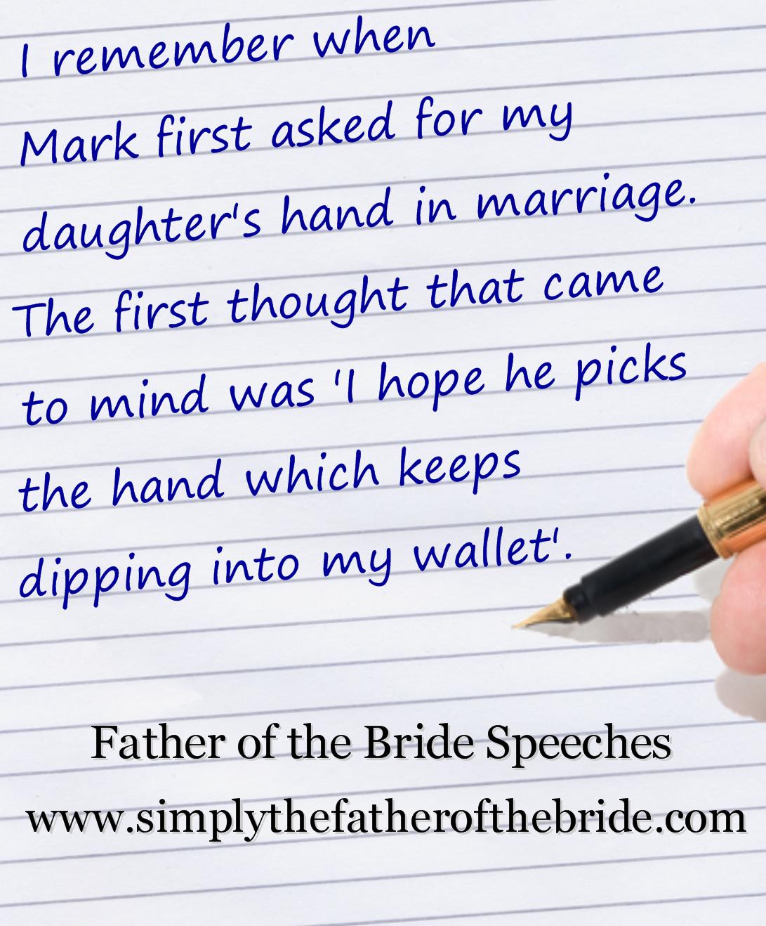 Giving The Bride Away Wedding Speech Father Of The Bride Bride Speech Examples