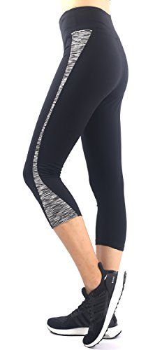 8637cdda3a1983 Sugar Pocket Womens Workout Capri Yoga Pants Running Leggings L Grey * Find  out more about the great product at the image link.
