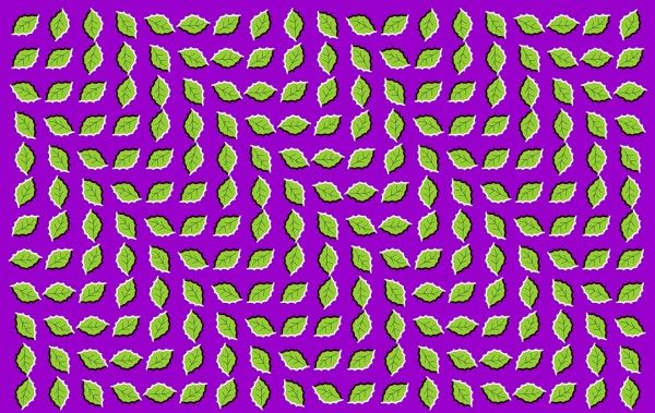 Leaf Wave By Akiyoshi Kitaoka Illusions Eye Tricks Z Arts