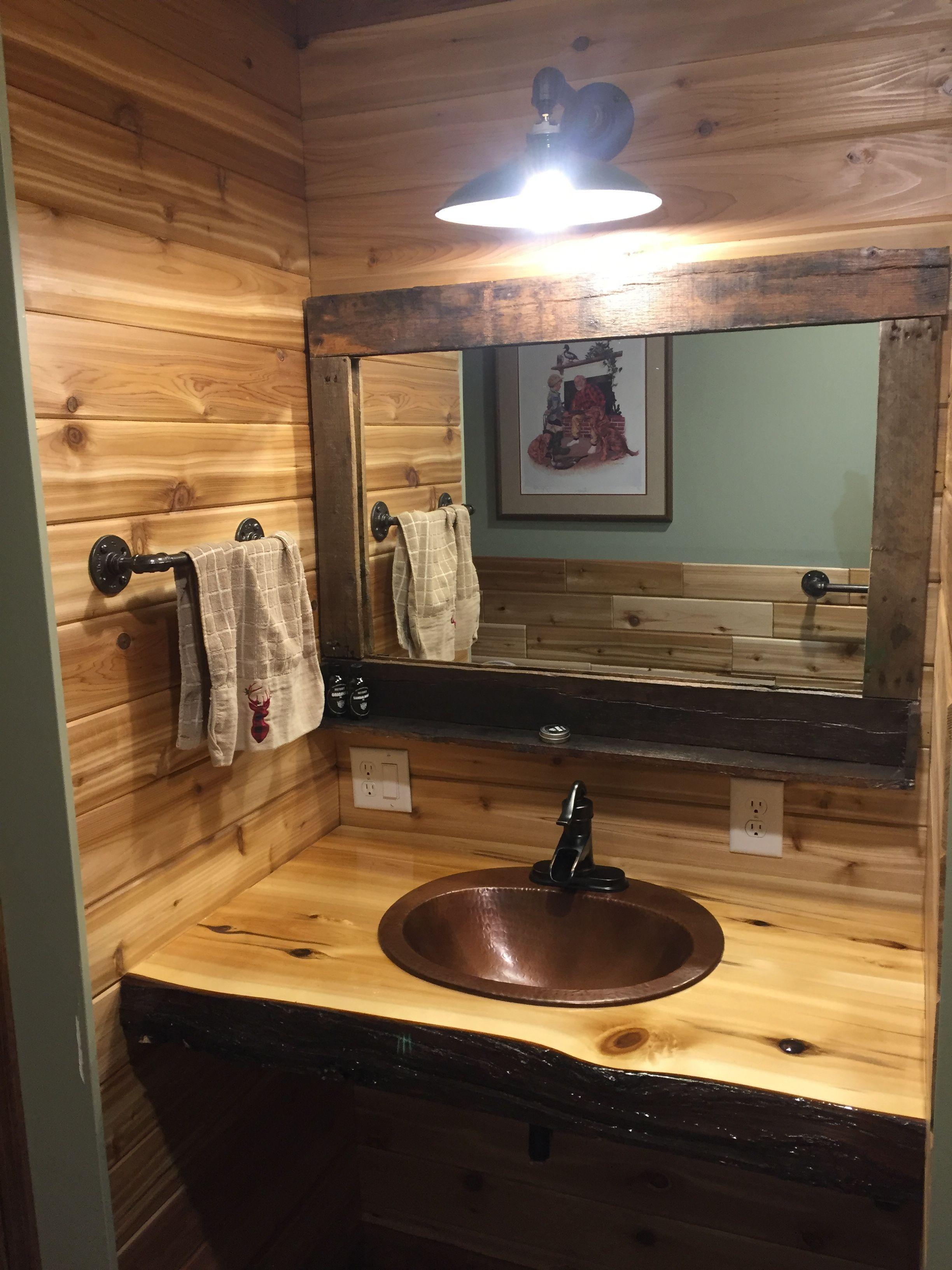 Looking For A Beautiful Rustic Vanity Log Vanity Or Barnwood Vanity For Your Master Suite B Rustic Bathrooms Rustic Bathroom Vanities Rustic Bathroom Designs [ jpg ]