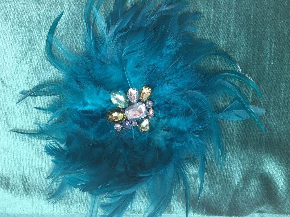"Flower Hair Elastic Ponytail Or Jacket Brooch Lane Bryant Fascinator Pin New 9""    eBay"