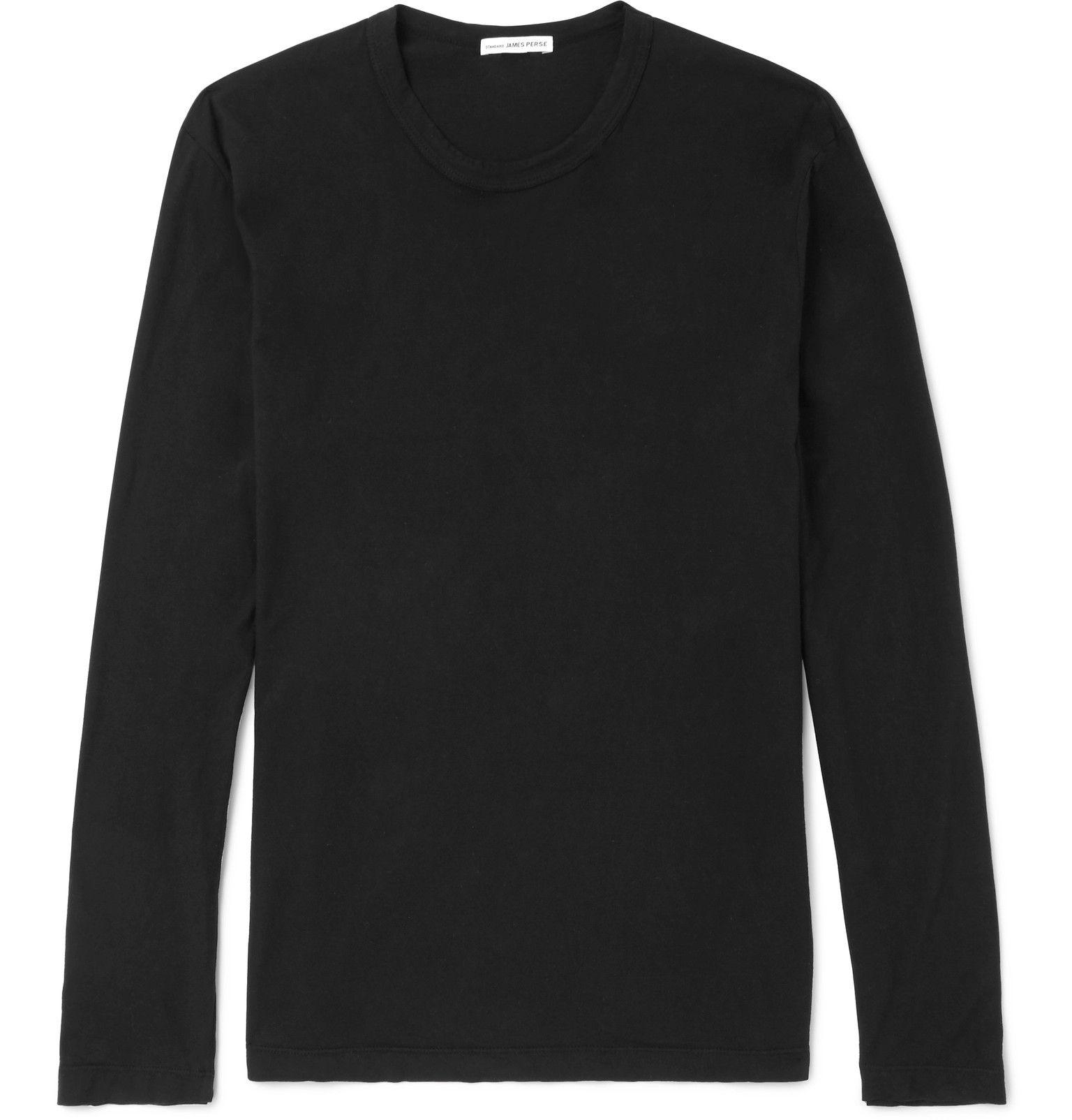 James Perse Mens Vintage Fleece Sweatshirt in Black 4