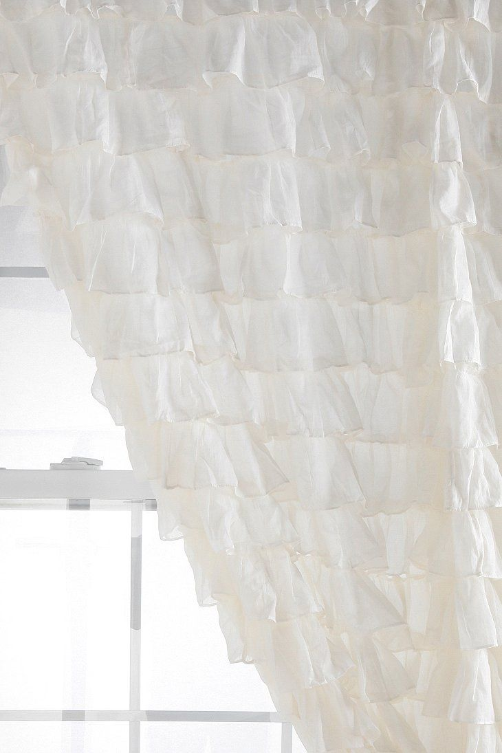 Waterfall Ruffle Curtain Comes In Blush Gray Or White