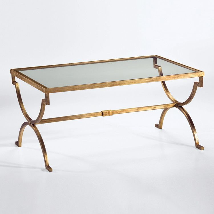 Modern Gilt Iron Coffee Table Coffee Table Silver Coffee Table